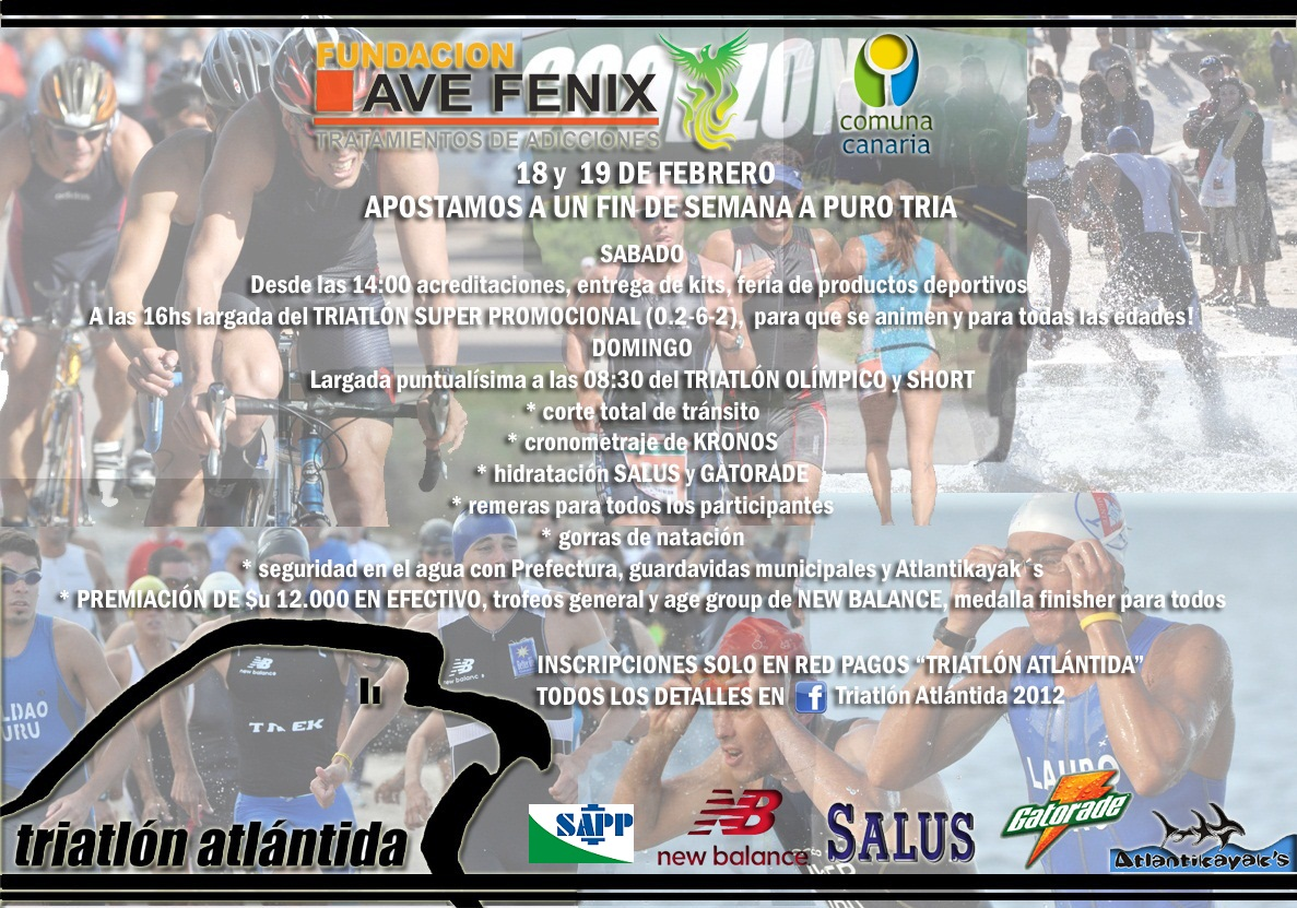 20120205 triatlon atlantida flyer Triatlon Atlántida 2012: 18 19 de Febrero